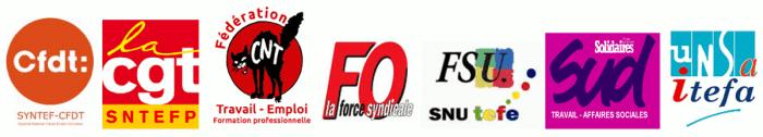 intersyndicale du ministère du travail CNT-CGT-CFDT-UNSA-FSU-FO-SUD contre les suppressions de postes