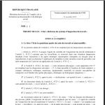 Projet de loi «Réforme de l'inspection du travail»