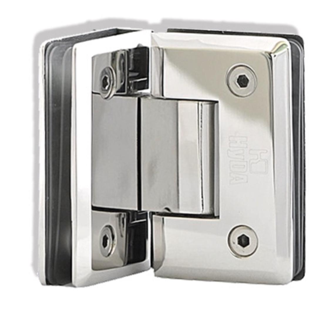 Hd701 Shower Door Fittings Double Hinges 90 Cnt