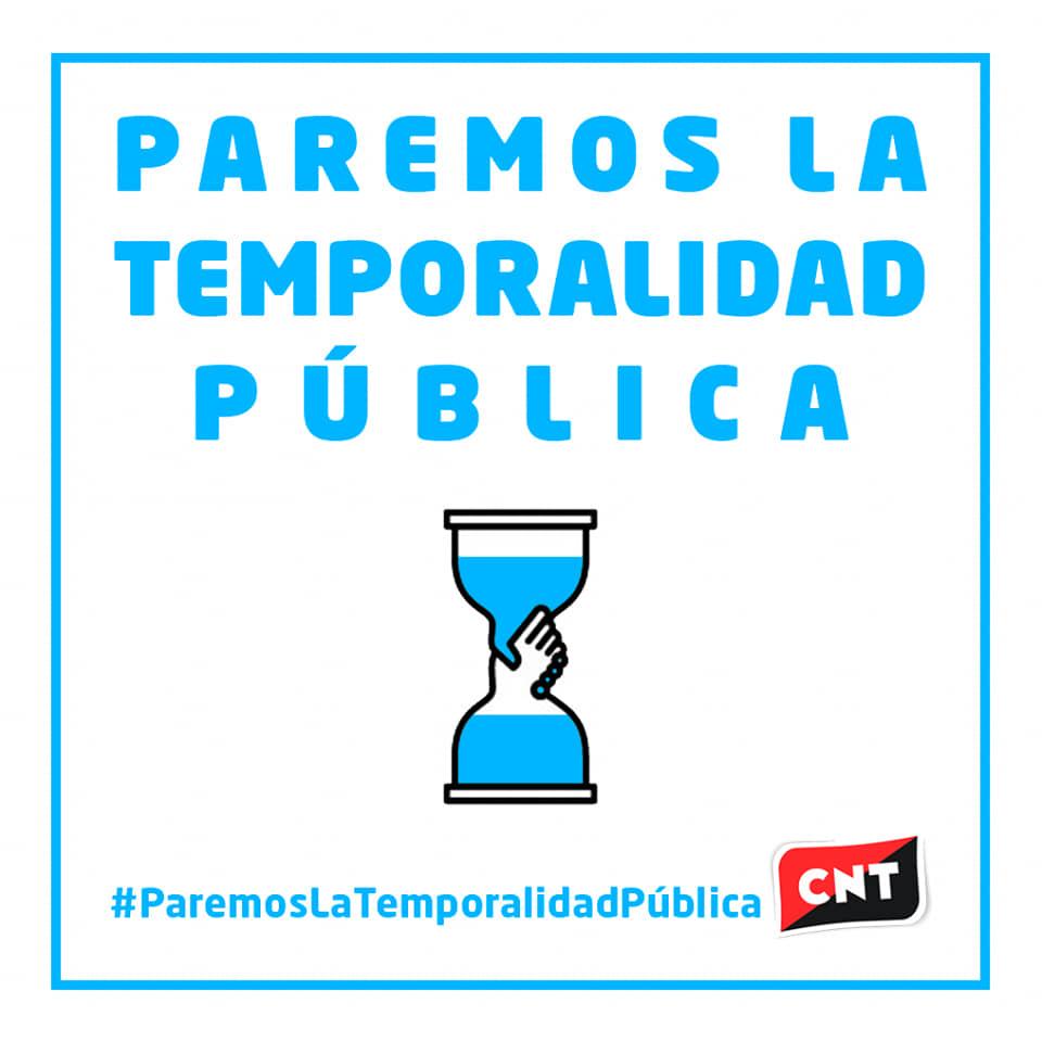 CNT por el freno a la temporalidad pública