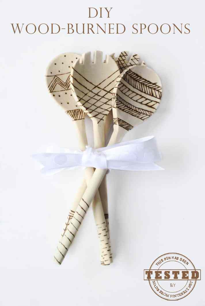 Wood-Burned Spoons