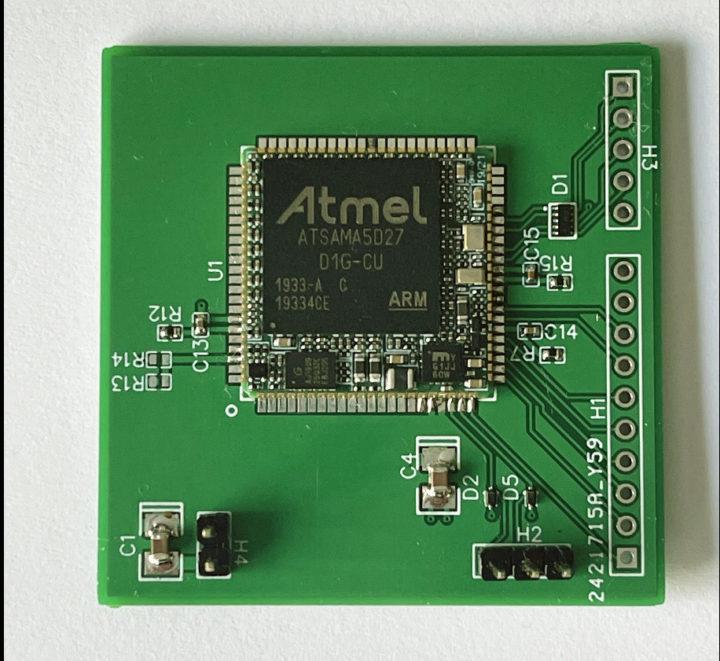 SAMA5D27 SiP module breakout board