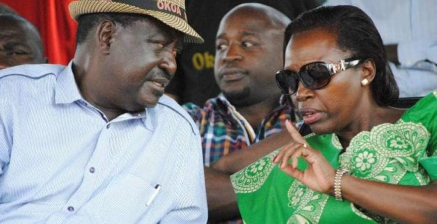 CAPTION: ODM Party Leader Raila Odinga and former long-time Gichugu Member of Parliament Martha Karua