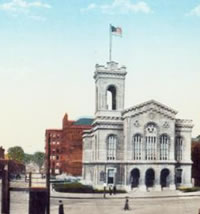 drawing of historic building