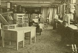 Stickley work room