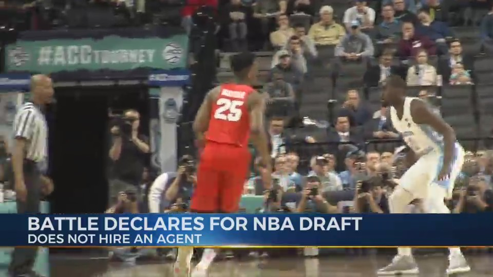 Battle declares for NBA draft