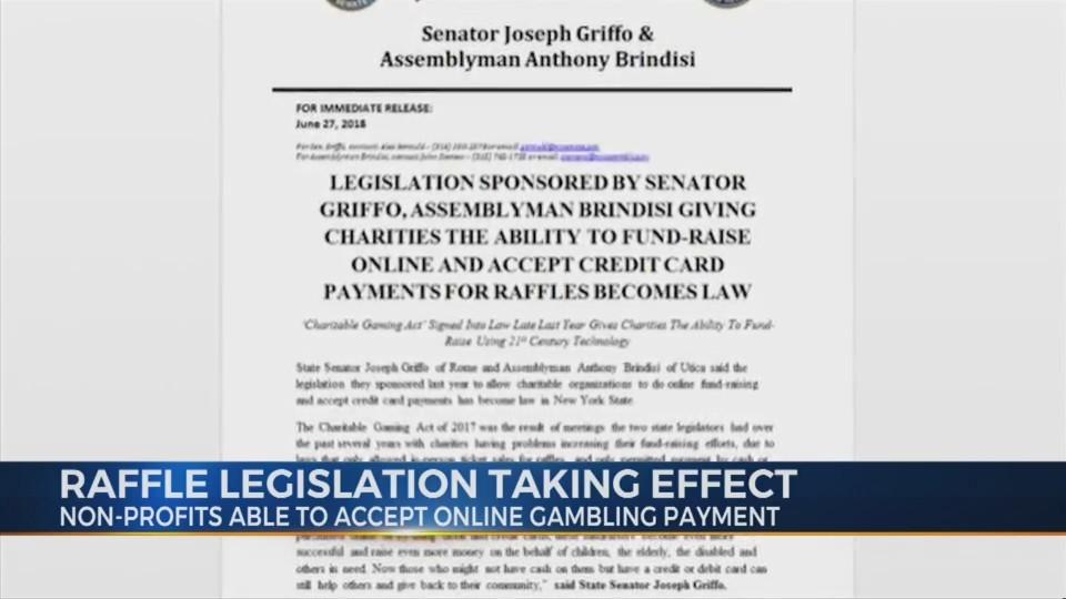 Raffle Legislation Taking Effect