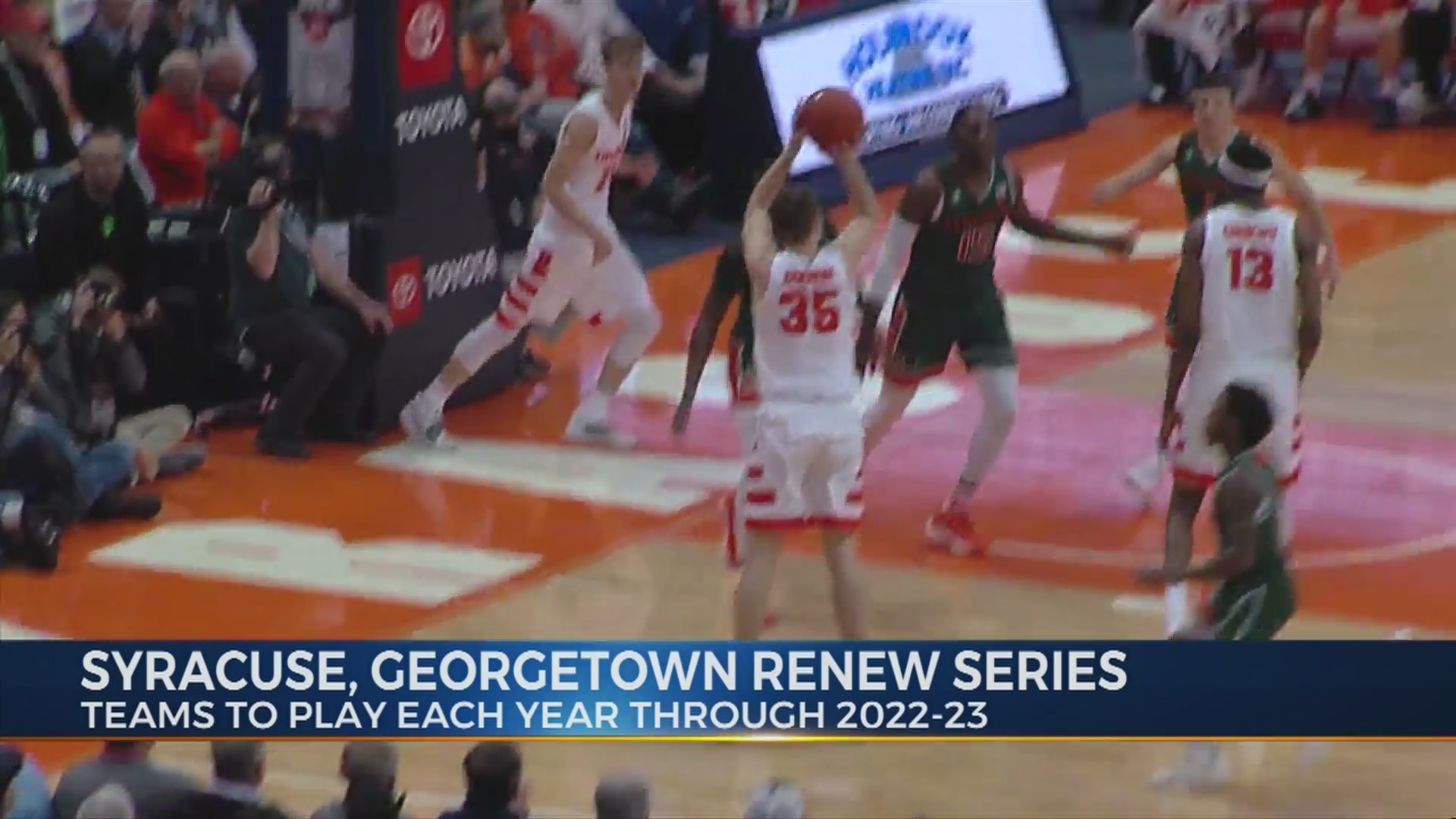 Syracuse, Georgetown to continue rivalry