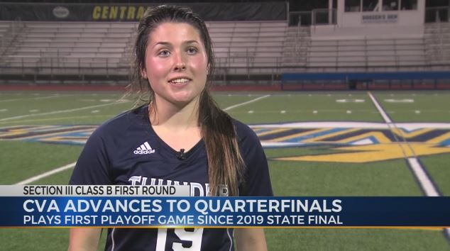 CVA Girls Soccer plays first playoff game since 2019 state final