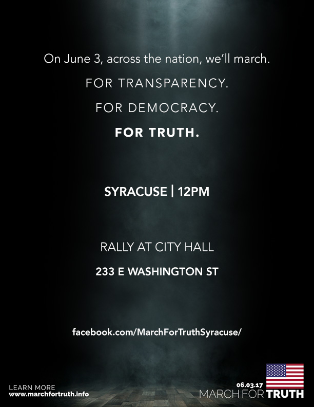 March for Truth Syracuse Flyer