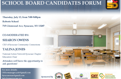 Syracuse School Board Candidate Forum