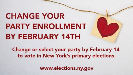 Change your party enrollment by February 14th