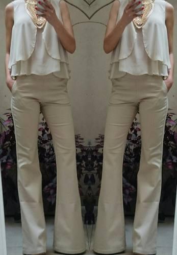 Pantalon Oxford Mujer Tiro Alto Elastizado Gabardina Jeans Mayorista De Ropa