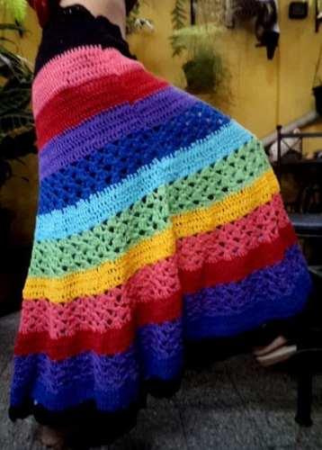 Tejidos Crochet Polleras Largas De Hilo Mayorista De Ropa