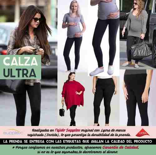 b9abde41c Calzas De Supplex Cintura Alta-modeladora  ideal Embarazadas ...