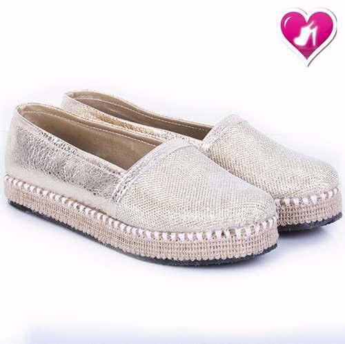 venta caliente online 29c59 7d0d8 Panchas Alpargatas Brillo De Mujer De Yute De Shoes Bayres » Mayorista de  ropa