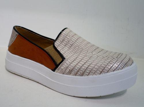 85aee231 Zapatillas Panchas Mujer Urbanas Plataforma Eco Cuero Croco ...