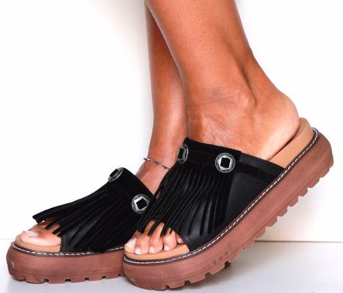 5dc080b876d Sandalia Zapato Fleco Bajas Mujer Moda Primavera Verano 2017 ...