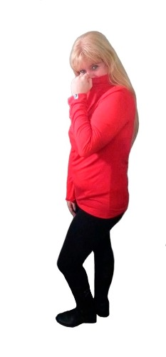 1 Pack De 3 Medias Polera Mujer Talle Grande Modal Con Lycra