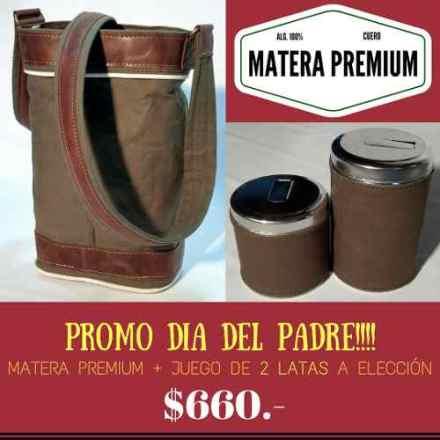 Bolso Matero Premium + 2 Latas Forradas En Lona