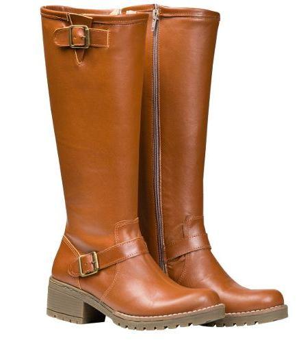 Botas Mujer Caña Alta Zapatos Hebillas Almacen De Cueros