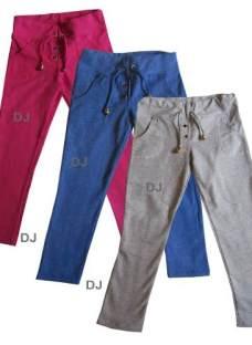 Calza Jogging C/bolsillo Algodon Y Lycra Pantalon Nena T4-14
