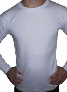 Camiseta-remera Manga Larga 100% Algodón Interlock Invierno