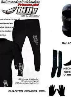 Equipo Termico Moto Remera+calza+balaclava+4 Medias Oslo+gte