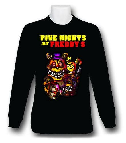 Five Nights At Freddy Remera Manga Larga