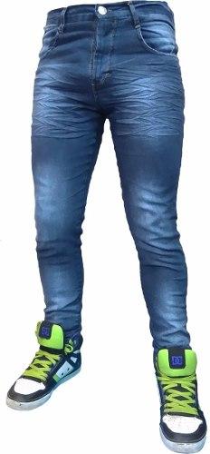 Jean Chupin Azul Hombre Elastizado