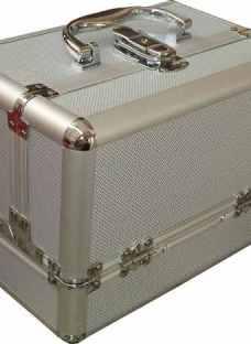 Maletin Porta Cosmeticos Maquillaje Aluminio Profesional Pe