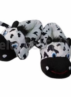 Pantufla Peluche Vaca Suela Antideslizante Importada