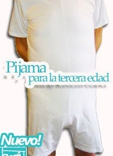 Pijama Adulto Protector Pañales Alzheimer Incontinenencia