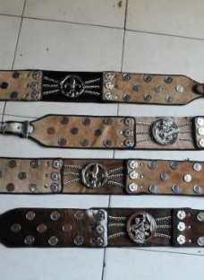 Rastras O Cinturos De Gaucho De Cuero Con Monedas Tirador N4
