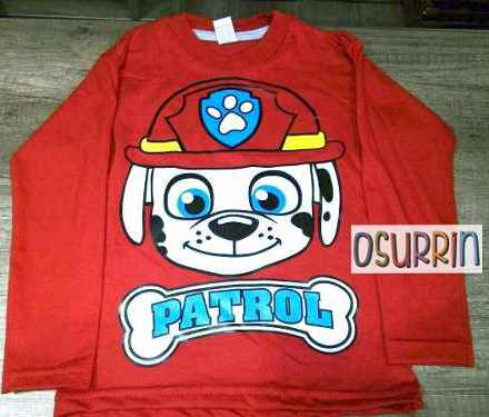 Remera Algodón Estampa Paw Patrol Pj Mask Capitan Star Wars
