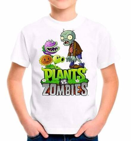 Remeras Manga Corta Plants Vs Zombies