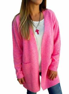 Saco Largo Lana Rosa Pink Fucsia Amarillo The Big Shop