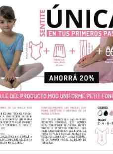 Uniforme Ballet Danza Malla Petit Fondu Falda Medias Badanas