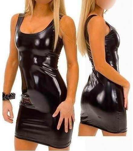 Vestido Transfer Lycra Brilloso Super Sexy