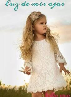 Vestidos D Encaje Para Nena Bautismo Comunion Fiesta Cortejo