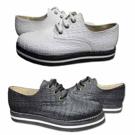Zapatos S Cuero Grabado De Mujer Talles Grandes Especiales 1