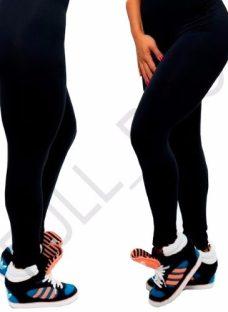 Calza Leggins Modeladora De Suplex Color Negro Varios Talles