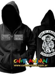 Campera Sons Of Anarchy Redwood Samcro Hijos De La Anarquia
