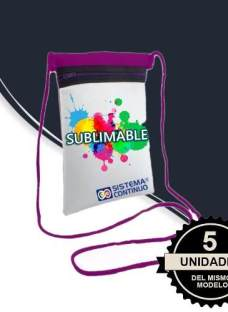 Carterita Para Sublimar Bandoleras Chicas Sublimable X5 Unid