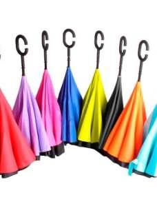 Paraguas Invertido Único Nuevo No Moja En Colores Alclick