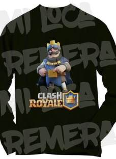 Remera Manga Larga Infantil - Clash Royale - Agrega Tu Nick