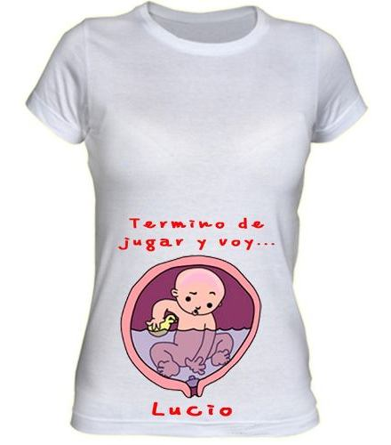 Remeras Embarazadas - Futura Mama - Baby Shower - Pansonas