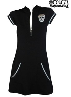 Vestido Skull Bolsillos Metal Sónicavanguardia Calavera