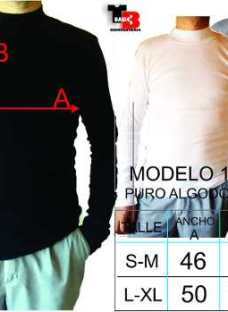 Media Polera Adaptable 100% Algodon Tejido Con Rebote