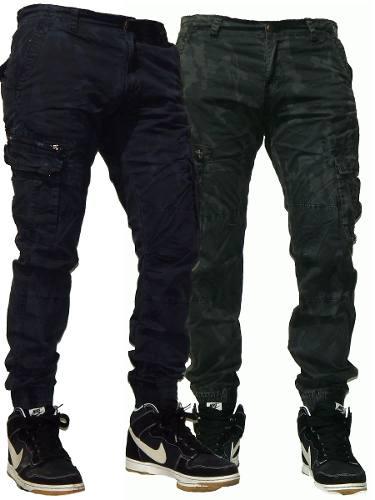 Pantalon Cargo Chupin Camuflado Pixelado Jeans710